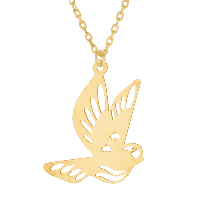 Re-launch your Life with our 9ct Gold Bird Necklet