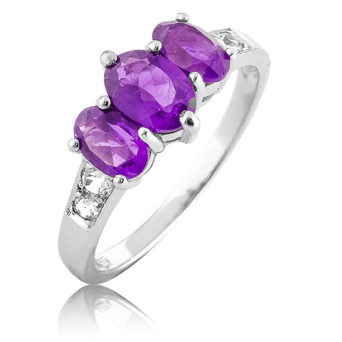 1.3ct Amethyst Trilogy Ring