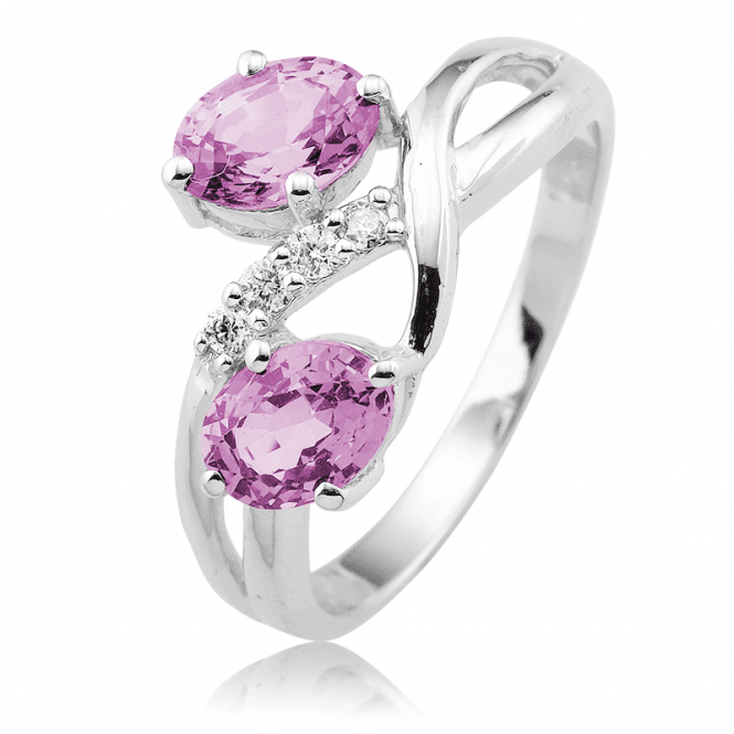 1.90cts of Rare Mauve Spinel in a White Gold & Diamond Setting