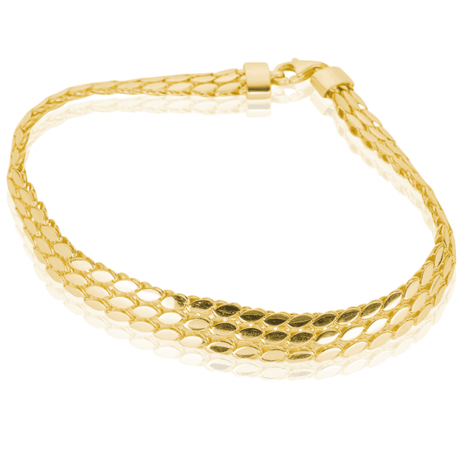 Premium Bracelet Layers Solid 9ct Gold Like Silk