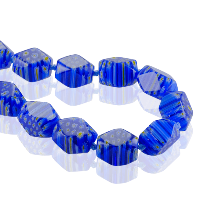 Extra Long Venezia Beads in Soothing Blue Glass