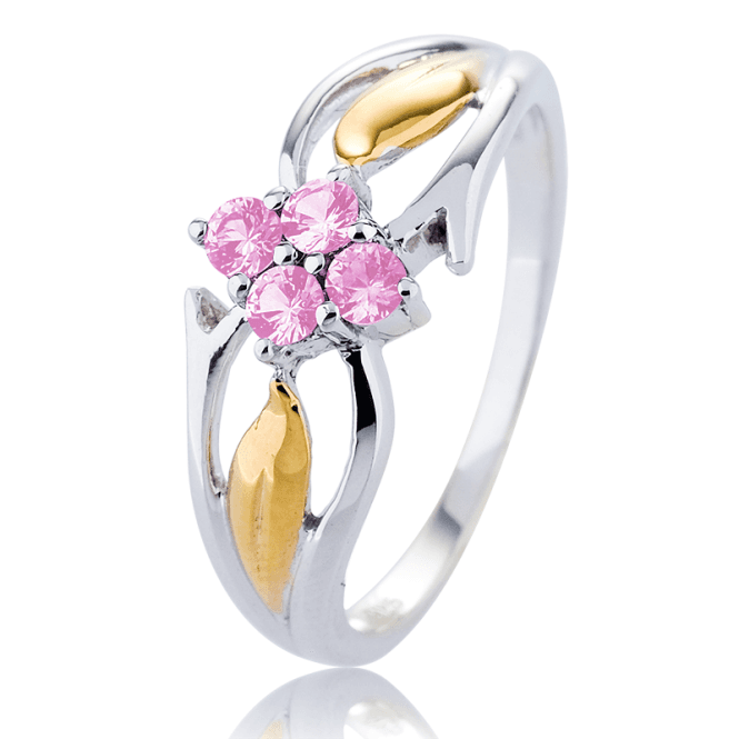 1/3ct of Pink Sapphire in a Gold- Kissed Silver Ring