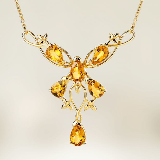La Comtesse Necklace with 7.7cts of Yellow Beryl