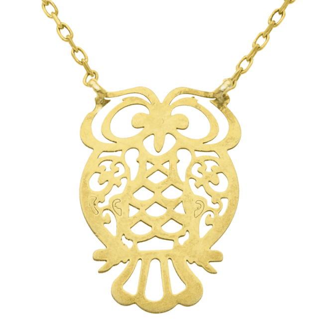 9ct Gold Owl Befriends Nature-Lovers