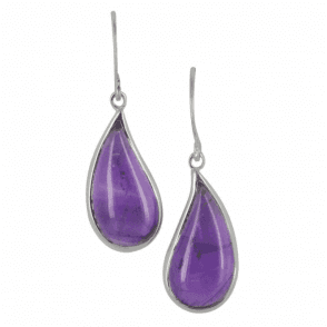 Amethyst Cabochon Earrings
