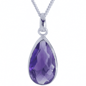 Ladies Shipton and Co Exclusive Silver and Amethyst Pendant including a 16 Silver Chain TMV037AM