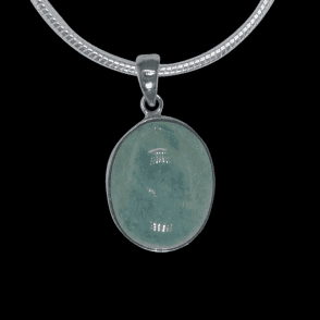 Ladies Shipton and Co Exclusive Silver and Aquamarine Pendant including a 16 Silver Flexisnake Chain TYS040AQ