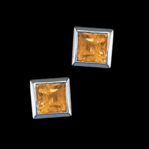 Sil 5mm Sq. E/R Citrine