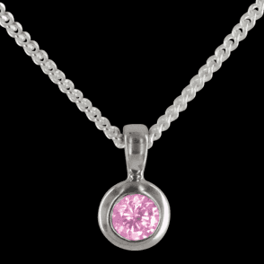 Ladies Shipton and Co Exclusive Silver and Cubic Zirconia Pendant including a 16 Silver Chain PQA015CZ4