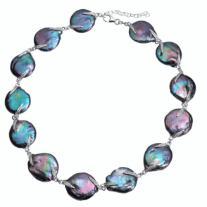 Ladies Shipton and Co Exclusive Silver and Freshwater Pearls Necklace TKT001PM