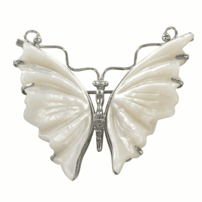 Art Nouveau Style Butterfly in Mother of Pearl