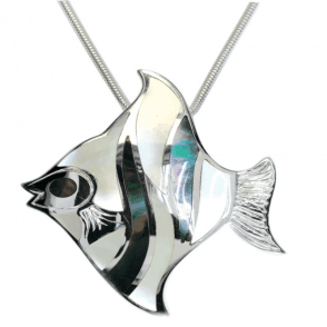 Sil Angel Fish Blk/Wht Mop Pdt