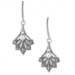 Art Deco Inspired Leaf Earrings