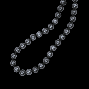 Ladies Shipton and Co Silver 7 to 8mm Black Round Freshwater Pearls Beads BOJ084FP