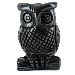 """Ladies Shipton and Co   2"""" Hematite Owl Carving CMH005HM"""