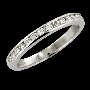 Ladies Shipton and Co 18ct White Gold 17 Diamond half Eternity Ring RVD075DI