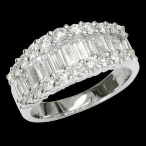 Imperial Baguette Cut Diamond Ring