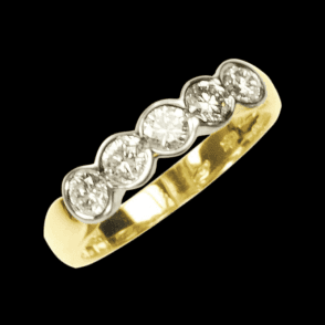 Ladies Shipton and Co Exclusive 18ct Yellow Gold Three Qauter Carat Flush Set Half Eternity Diamond  Ring S07789DI