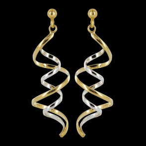 Intriguing Ribbons of Golden Light Earrings