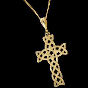 Celtic Wisdom Cross in 9 Carat Gold