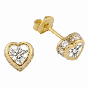 Ladies Shipton and Co 9ct Yellow Gold and Cubic Zirconia Earrings TEM007CZ