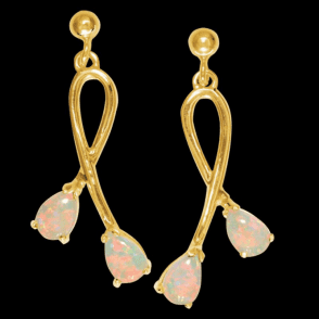 The Impressionist Opal Earrings