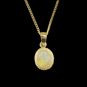 Ladies Shipton and Co 9ct Yellow Gold and Opal Pendant including a 16 9ct Chain PY1002OP