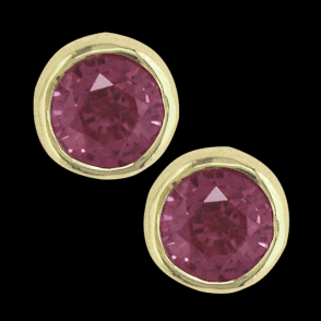 Earring 9ct 0074 Pink Sapph.