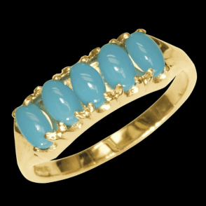 Ladies Shipton and Co Exclusive 9ct Yellow Gold and Turquoise Ring RY1176TQ