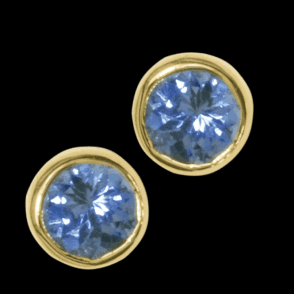 Ladies Shipton and Co Exclusive 9ct Yellow Gold and Tanzanite  Earrings EY0074TZ