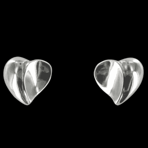 Ladies Shipton and Co Exclusive Silver 3D Hearts Earrings EQP083NS