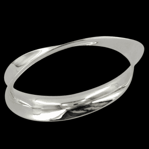 Ladies Shipton and Co Silver Mobius Bangle GQP064NS