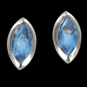 Sterling Silver Cascade Earrings of Blue Topaz