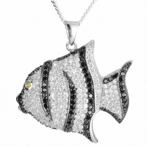 """Ladies Shipton and Co Silver and Cubic Zirconia Pendant including a 16"""" Silver Chain TLH001CZ"""