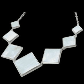 Designer Mother of Pearl necklet in Sterling Silver