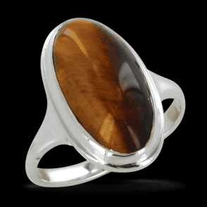 Ladies Shipton and Co Exclusive Silver and Tiger Eye Ring RQ0941TE