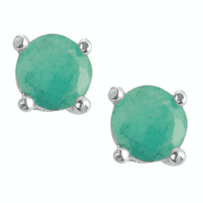 Ladies Shipton and Co Silver and Brazillian Emerald Earrings TFE003EM