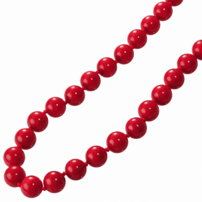 "Perfect Spheres of Red Coral in a 28"" Abundance"