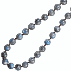 "Ladies Shipton and Co  Silver 28"" Long Flashing Blue Labradorite Beads BKC009LB"