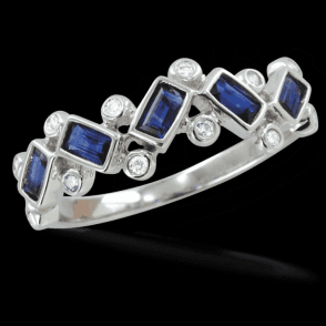 The Spectacular Rain Drops Sapphire Ring