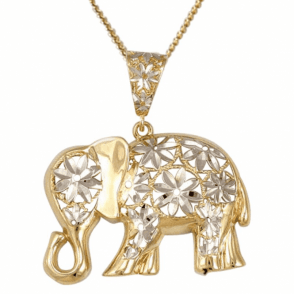 Diamond Cut Elephant for Love & Luck