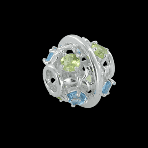 Ladies Shipton and Co  Silver Blue Topaz and Peridot Charm DQA250MU3