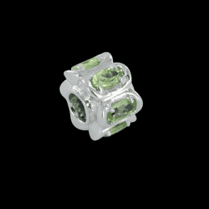Ladies Shipton and Co Silver and Peridot Charm DQA240PE