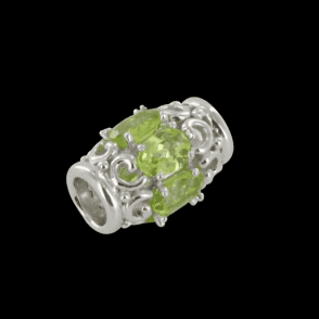 Peridot Pave Barrel