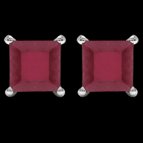 Flame Red Ruby Squares