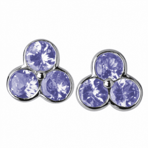 Tanzanite Clusters in White Gold