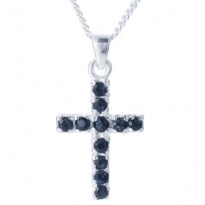 Apostles Cross of 11 Dark Sapphires