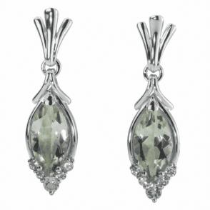 Green Amethyst Romance Earrings