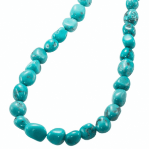 Ladies Shipton and Co Silver Turquoise Bead Necklet BJG006TQ