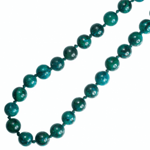 "Extra Long 28"" String Featuring Miniature Worlds of Chrysocolla"